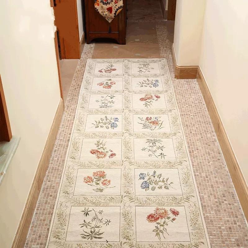 Compre Tamanho Longo Tapete Floral Bege Para A Escada 80 * 300 Cm, Tapete Do Corredor, Retângulo Tapete De Chão, Clássico Tapete De Decoração Para Casa De ...