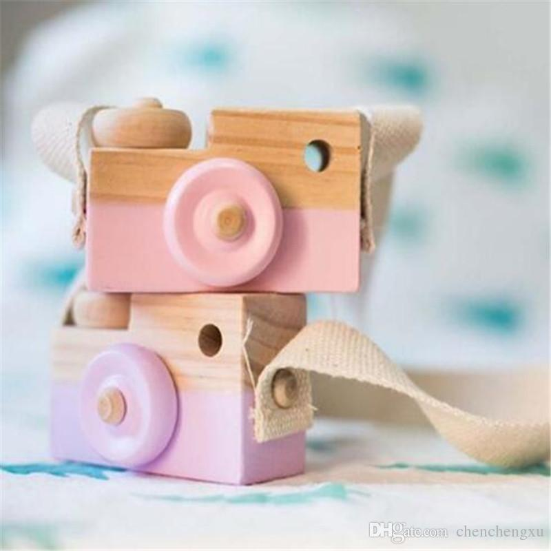 Cute Wood Camera Toys Safe Natural Toy For Baby Children Fashion Clothing Nordic European Style