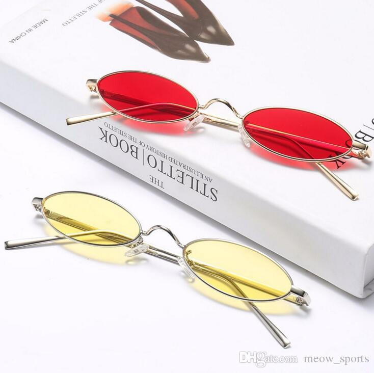 ffb442031d 2019 Fashion Small Designer Sunglasses Women Cat Eye Sun Glasses Men 2018  Fashion Metal Frame Red Sunglasses Oval Vintage Shape From Meow sports