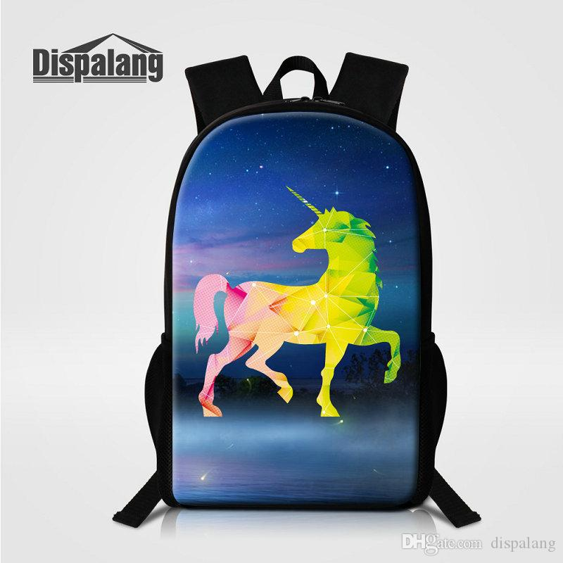 3D Unicorn Schoolbags Bookbags For Teenage Girls Boys Women Stylish Backpack  For Traveling Children Casual Shoulder Bag For School Mochilas Designer ... 07060f7046fbe