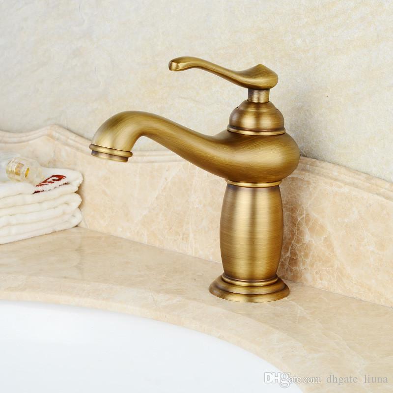 Rubinetti lavabo Rubinetti lavabo da bagno in ottone anticato
