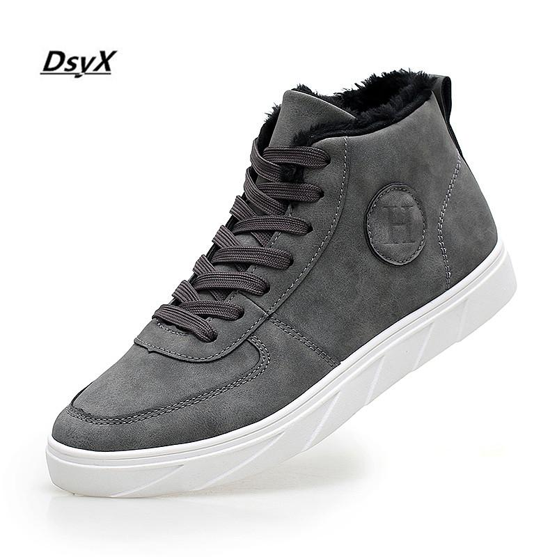 0842e8e57bef0 Men Casual Shoes Autumn And Winter New Arrival Lace Up High Style Leisure  Fashion Youth Shoes Trend Martin Flat Male Boots Buy Shoes Online Slip On  Shoes ...