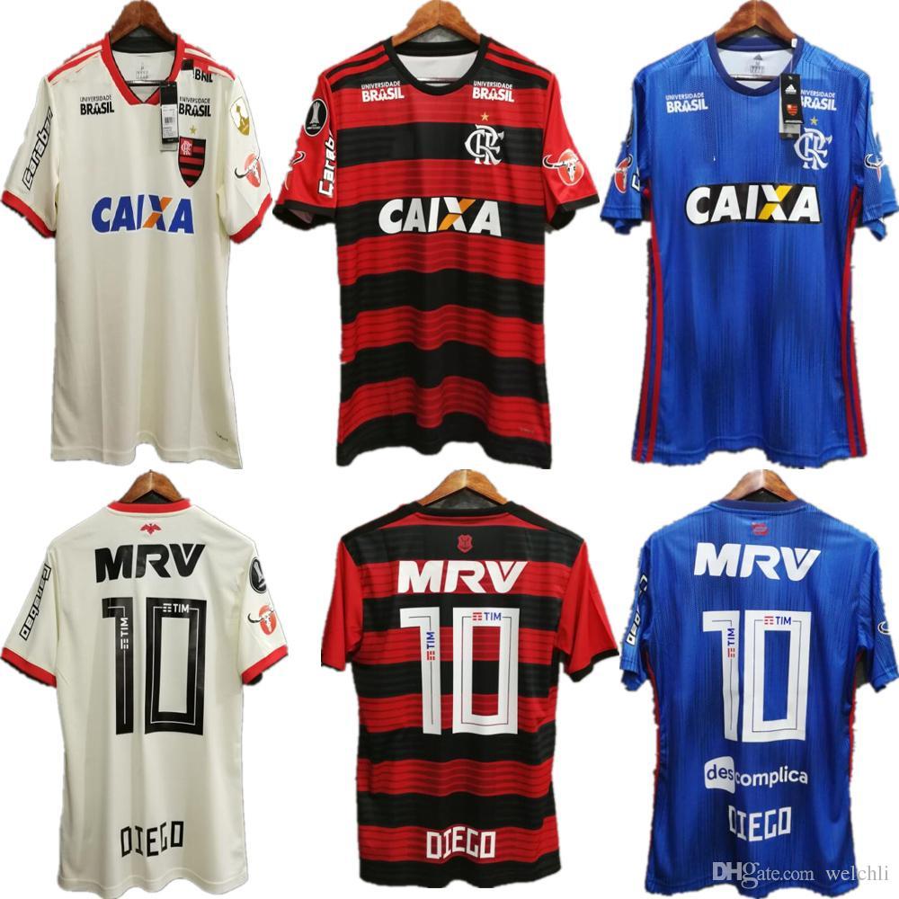 b03efe8558b12 Compre Perfeito 2018 Flamengo Camisas De Futebol Patrocinador Completo Casa  Longe Terceiro Nome Personalizado Número Camisas De Futebol Libertadores ...