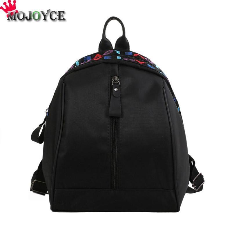 d3c2e7378114 2018 New Women Mini Backpack Fashion Simple Korean Soft Waterproof Nylon  Zipper Vertical Square Shoulder Bags School Bag Ogio Backpack Rucksacks  From ...