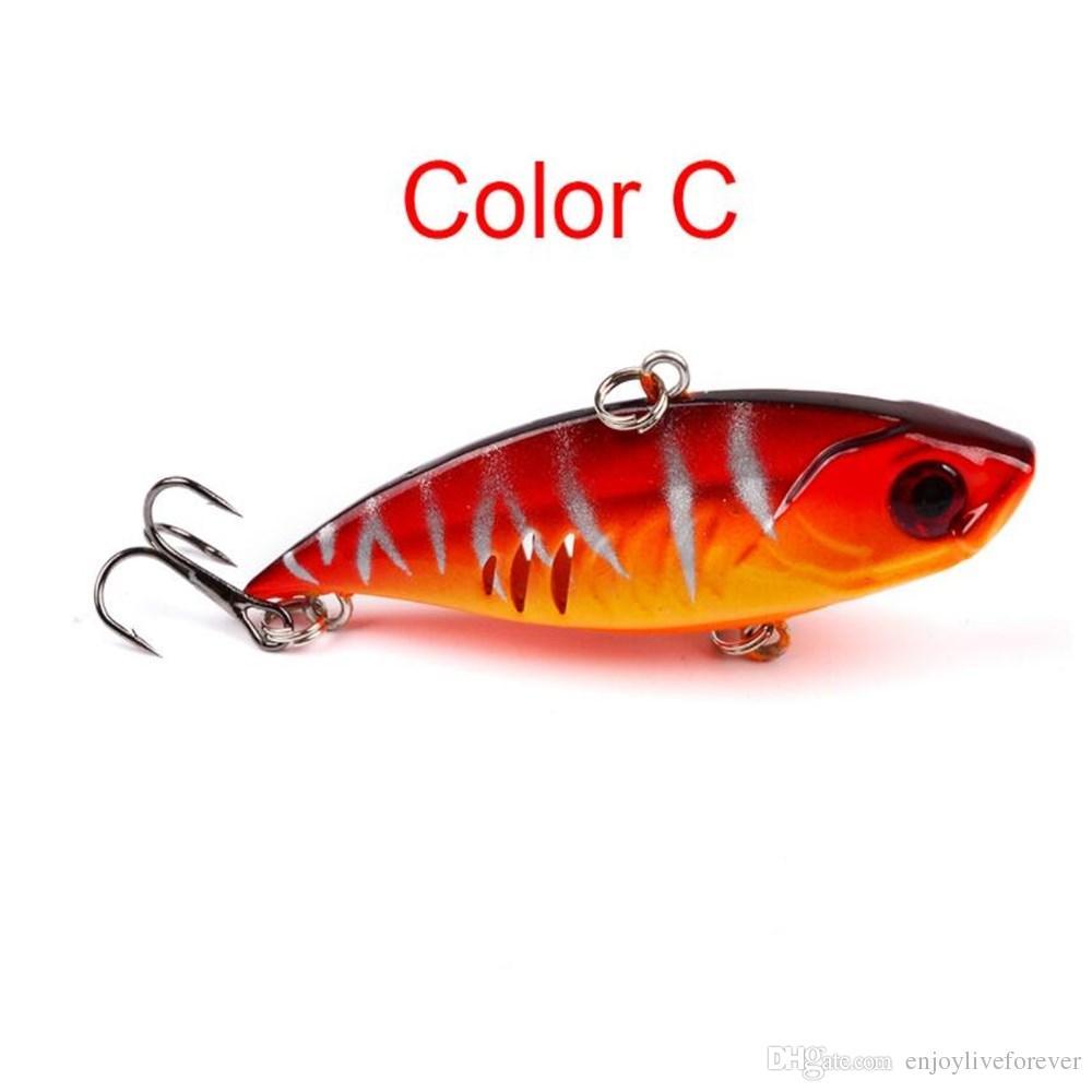 6.5cm/11g VIB Hard Bait Plastic False Fishing Lure Lu Ya Lifelike Fishing Bait with 6# Treble Hook for Saltwater