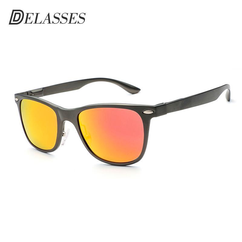 DELASSES Brand Designer Aluminum Magnesium Polarized Sunglasses Men Vintage  Rivet UV400 Goggles Oculos De Sol For Feminino L002 Sunglasses Online  Sunglasses ... 34bc605599