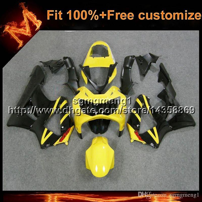 23colors8Gifts Injection mold black yellow motorcycle cowl for HONDA CBR929RR 2000-2001 CBR 929 RR 00 01 ABS Plastic Fairing