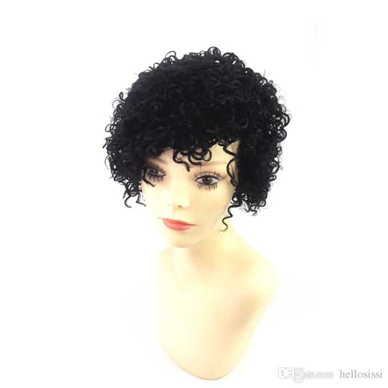 Fashion Style Lace Front Human Cut Hair Wigs kinky curl Short Bob Wig Virgin Malaysian Human Natural Hair Wigs For Black Women