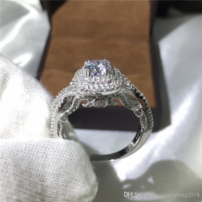 Moda Kadın yüzük Cz 5A Zirkon taş Takı 925 Gümüş Nişan Düğün Band Yüzükler kadınlar için Parti Doğum Günü Hediye
