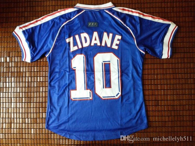 1998 ZIDANE Vintage Soccer Jersey Henry Vieira Deschamps Football Shirts 98  National Team Home Blue Classical Soccer Uniforms Sports Wears Canada 2019  From ... 630259b89