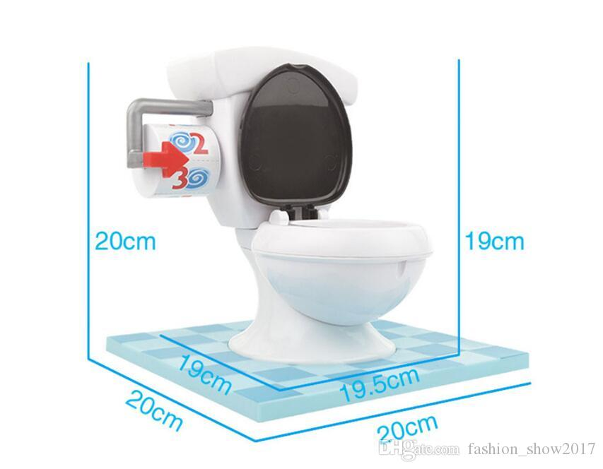 Nuevo TORO TROUBLE Inodoro Spraying Water Spoof Juego Funny Mini Prank Squirt Spray Water Spoof Gadgets Gag Juguete Regalo