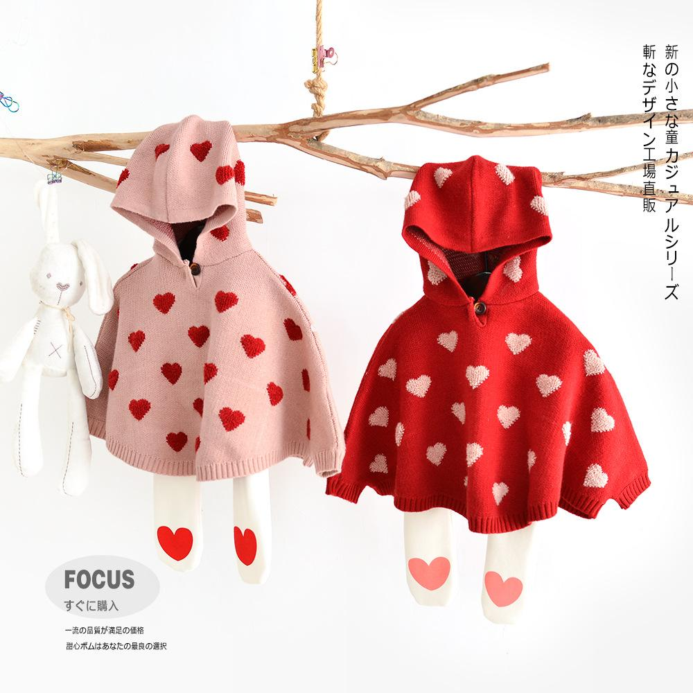 ins hot toddler sweater baby girl clothes kids sweaters baby girl clothes  capes for girls kids winter poncho sweaters cardigan