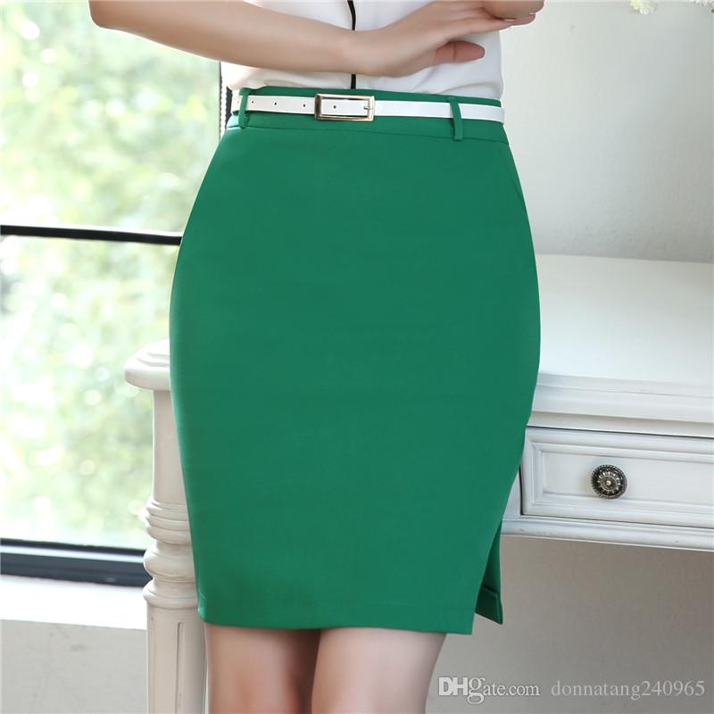 b38f97718b8f1 2019 Pencil Skirt Female Bodycon Skirts Womens Summer Knee Length Side Split  Ladies Office Pencil Skirt Design Office Formal Wear From Donnatang240965