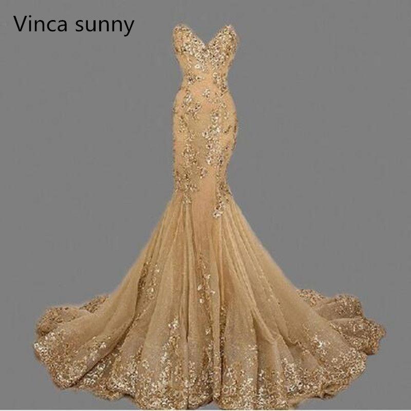 4b79b118e Compre Vestido De Fiesta Vestidos De Noche De Lujo Vestidos De Noche De  Sirena Vestidos De Noche Largos Sirena De Sirena Vestidos Largos 2018 Ebay  ...