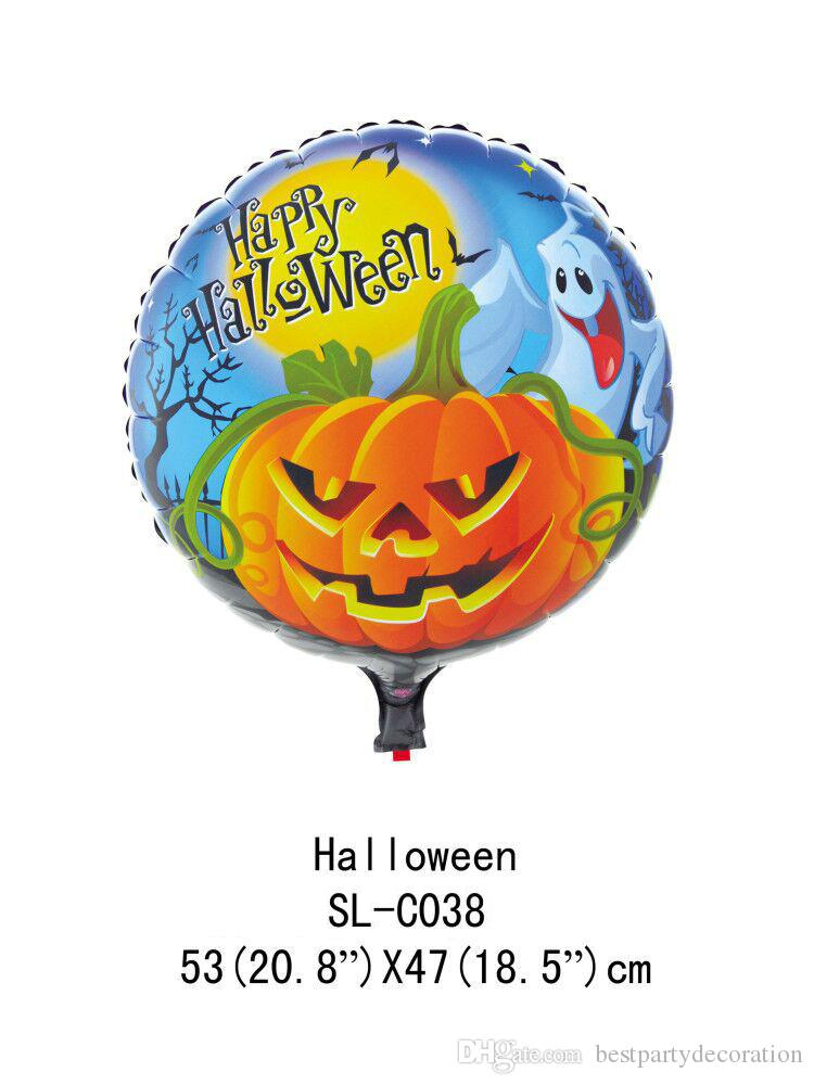 2019 Helloween Foil Balloons 4545CM Halloween Party Decorations Air Balls Inflatable Helium Balloon Birthday Supplies From