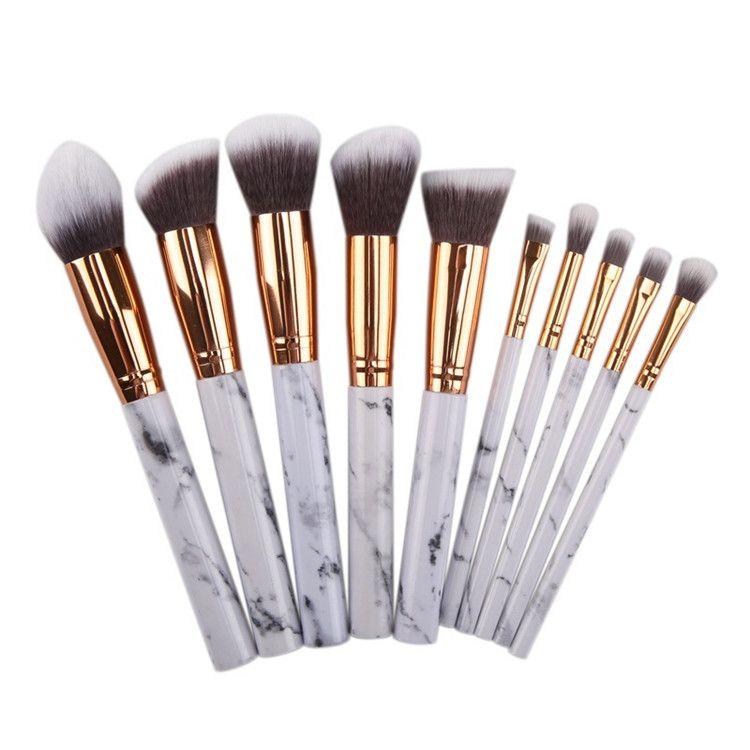 Marble Makeup Brushes Blush Eyeshadow Face Powder Make Up Brush Set las brochas de maquillaje Maquiagem