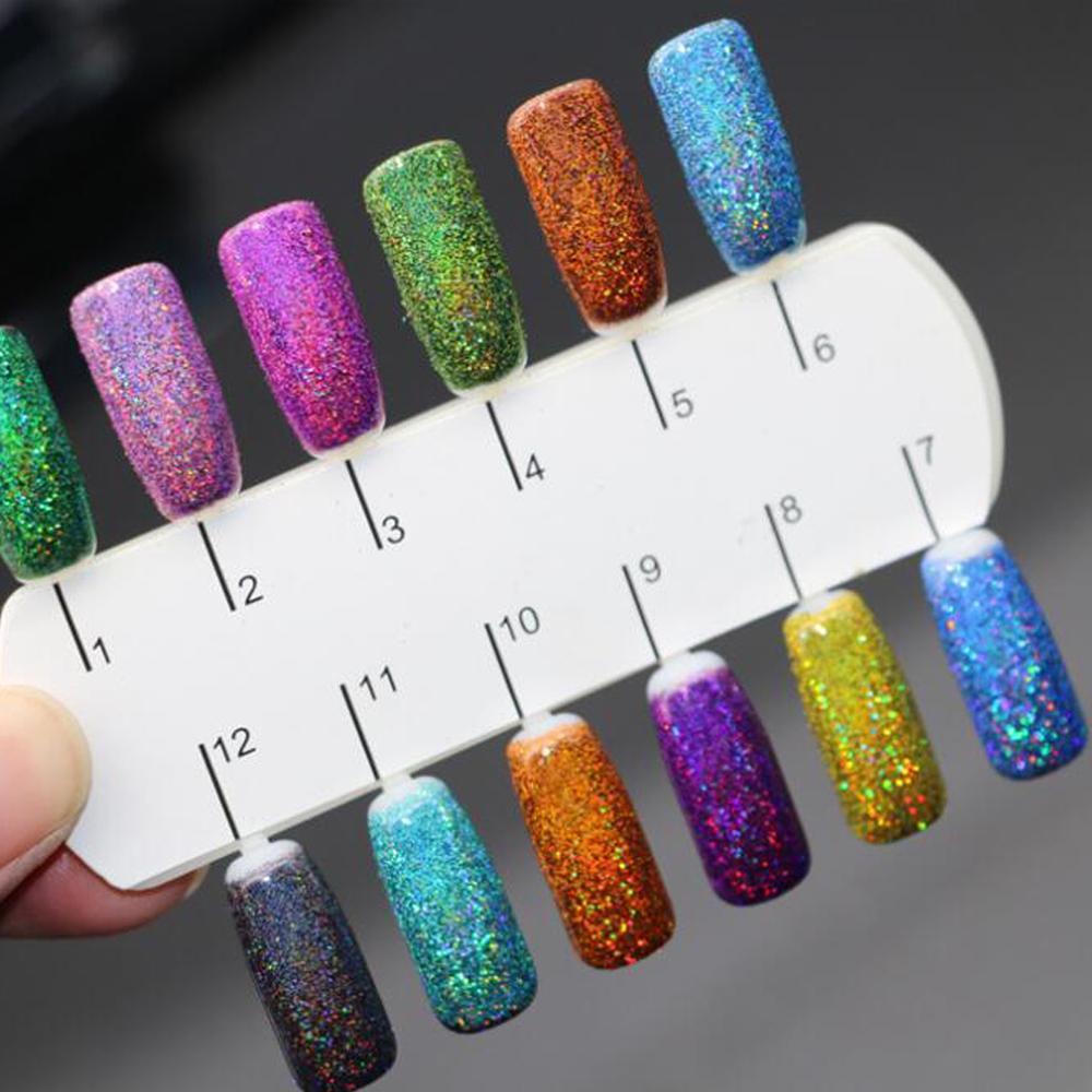 Art Nail Glitter Ultra Fine Laser Glitter Powder Set 1g Bling Nail