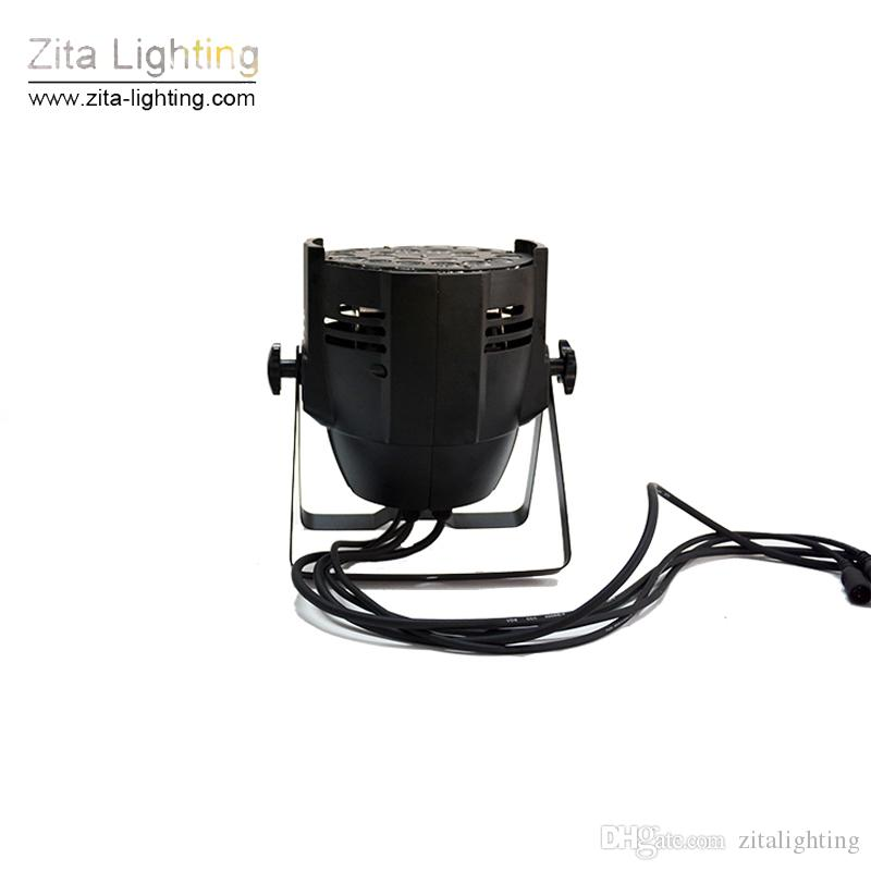 Zita Lighting LED Par Lights Stage Lighting Par64 Wall Washer LED Par Can RGBW 4In1 24X12W DMX512 DJ Disco Building Tower Light Effect