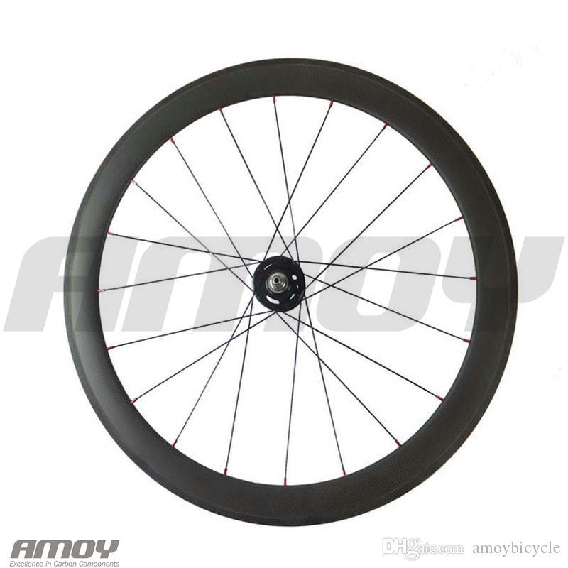 700C Carbon Track bike wheelset 50mm Clincher Tubular Flip Flop fixed gear Single Speed bike wheels