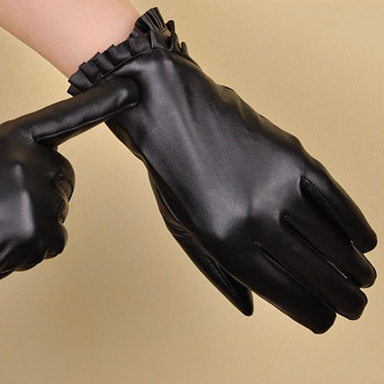 183d28f394a18 New Luxury Black Touch Screen Gloves Fashion Brand Women Winter Warm ...