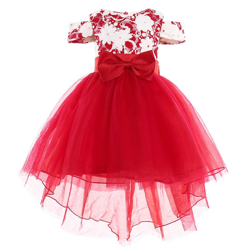 e3cf21e13e Elegant Wedding Flower Girl Dress 2018 Hot Child Girl Big Bow Princess  Party Show Formal Tutu Clothing 2 3 4 5 6 7 8 9 10 Y Discount Flower Girl  Dress ...