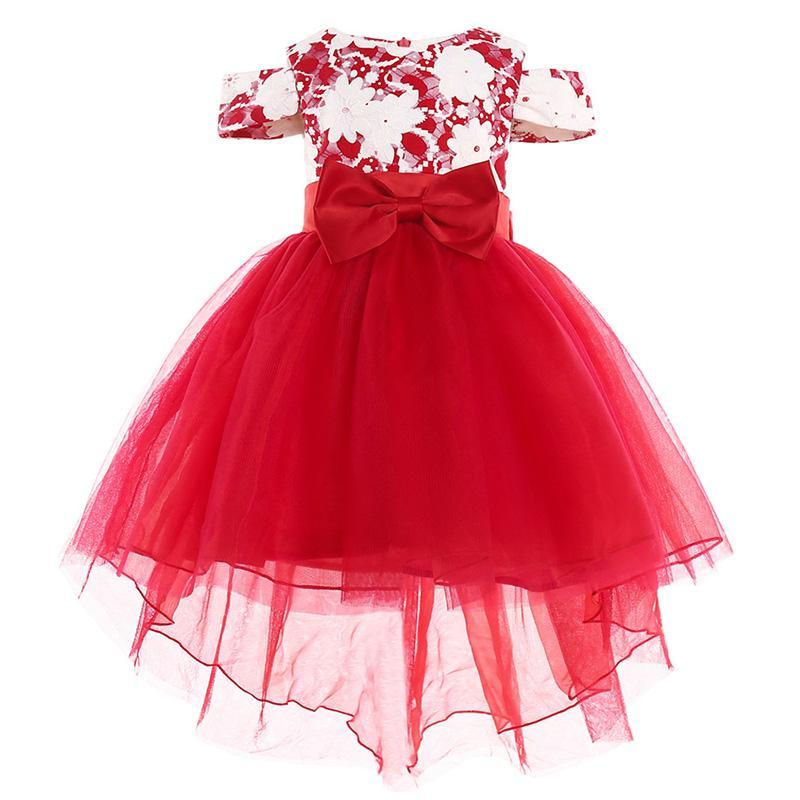 dce663870c693 Acheter Robe De Demoiselle D honneur Élégante 2018 Hot Child Girl Big Bow Princesse  Party Show Vêtements De Tutu Formels 2 3 4 5 6 7 8 9 10 Y De  74.36 Du ...