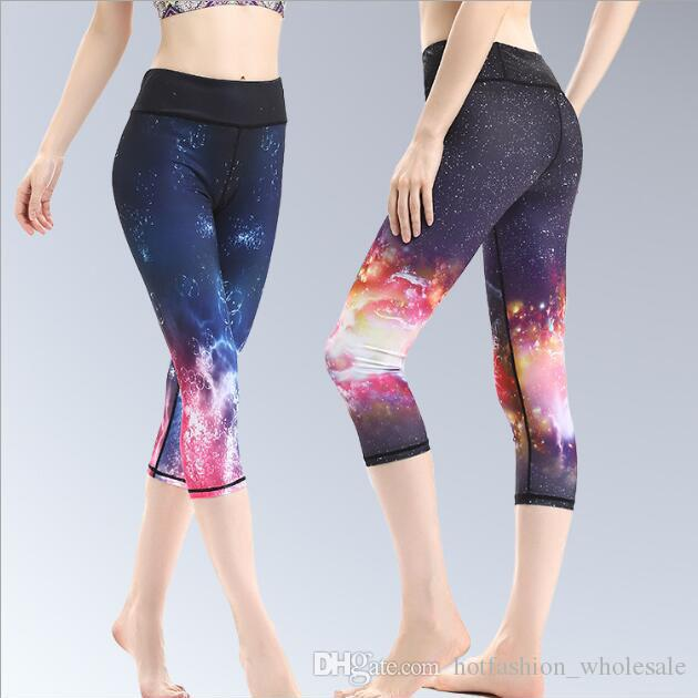 5c72846003053 2019 Women Workout Sports Leggings Elastic Pants Gym Fitness Comprehensive  Shorts 3/4 Running Training Yoga Short Tights From Hotfashion_wholesale, ...