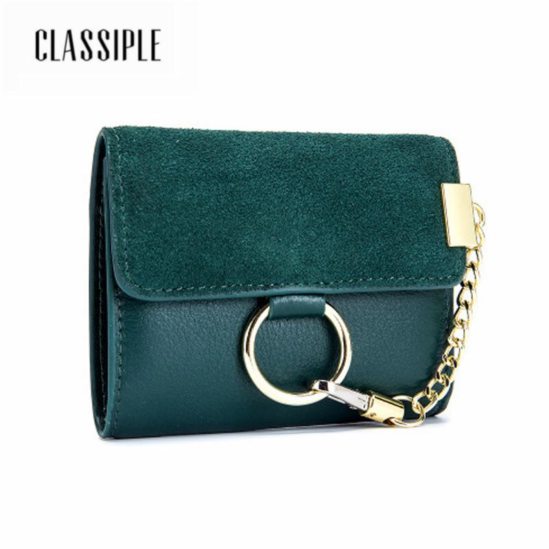 ecabd950bd83 2018 Fashion Bag Wallet Genuine Leather Women Short Wallets Black ...
