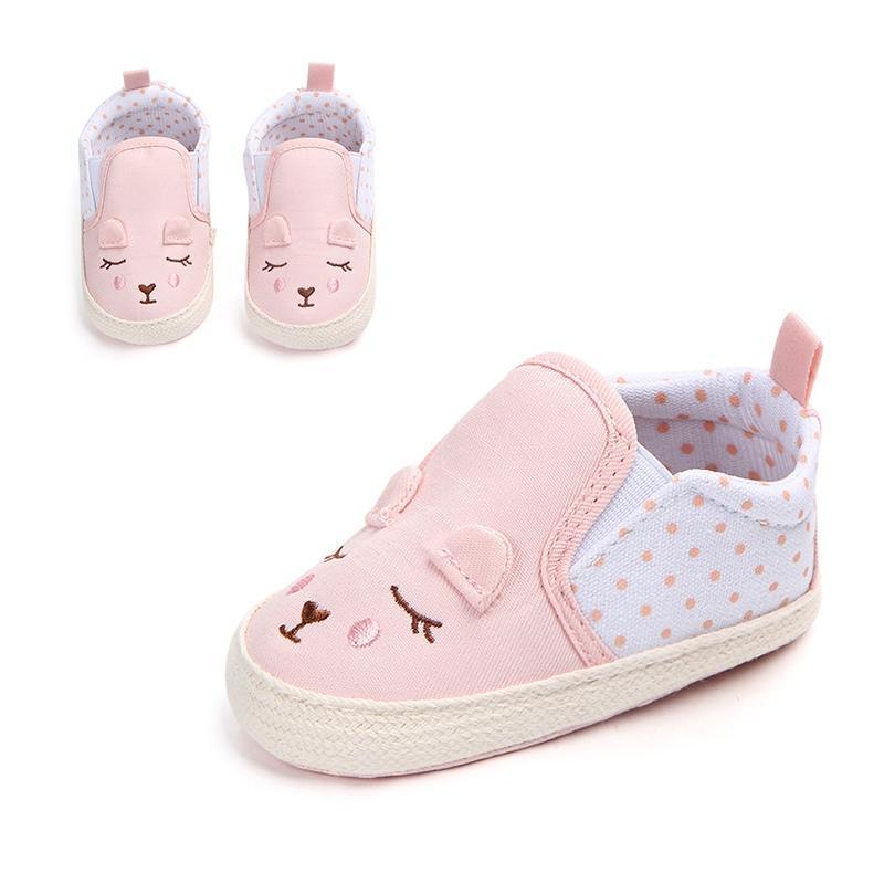 de3352b6ec272 Newborn Boys Girls Soft Antislip Baby Shoes First Walkers Baby Canvas shoes  0-18 Months Skid-Proof