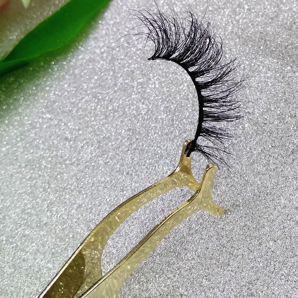 Gold Strip Lashes Tweezers Fake Eye Lash Rose Gold Tweezers Applicator Clip Makeup Tool Beauty Tweezers New Tech