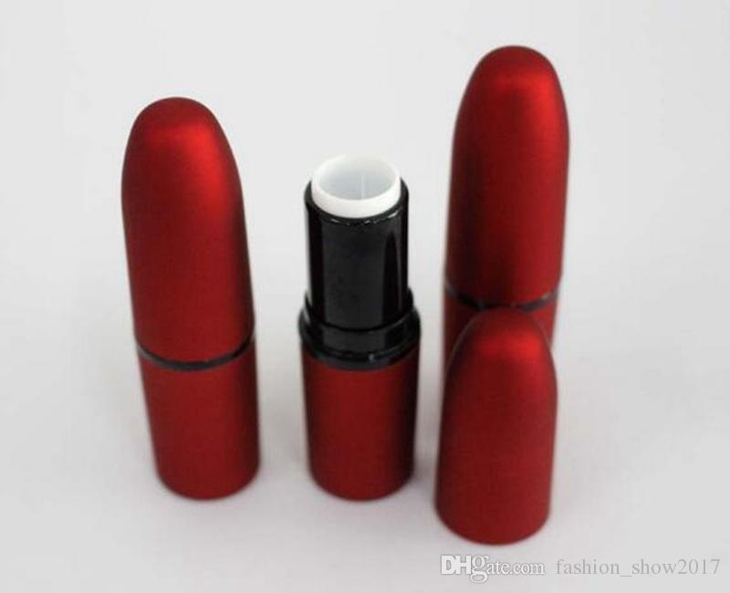 Bullet Empty 12.1mm Lip Balm Container Lip Balm Fashion Cool Lipstick Tube Frosted Red Color DIY Cosmetic New Fashion