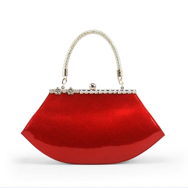 Vintage Women Evening Bag Wedding Party Bride Handbag Ladies Diamonds Hobos  Bag Small Patent Female Married Banquet Tote Handbag Wholesale Purses  Wholesale ... 8ac3b723402f