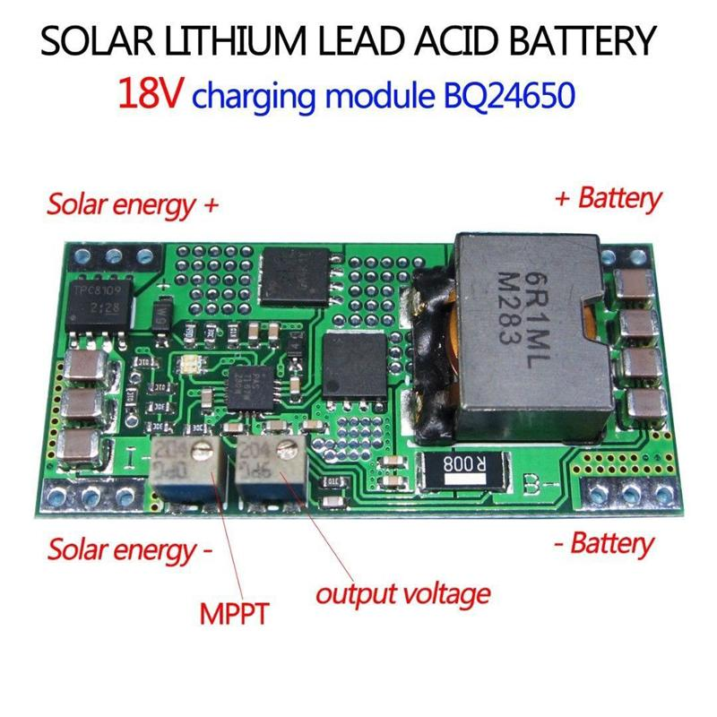 Freeshipping BQ24650 MPPT Solar Panel Lithium Lead-acid Battery Charging  Board Controller 5A 12V 6V 3 7V 3 2V