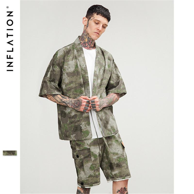 2019 Mens Clothing Kimono Japanese Shirt New Fashion Street Wear