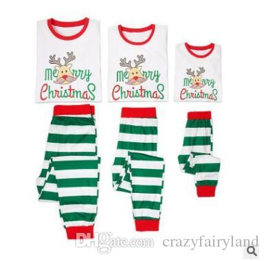 83b1a71b6422 Christmas Pajamas Set Family Matching Outfits Baby Elk Letter Sleepwear  Mother And Daughter Father Son Matching Clothes Xmas Homewear Mommy And Baby  ...