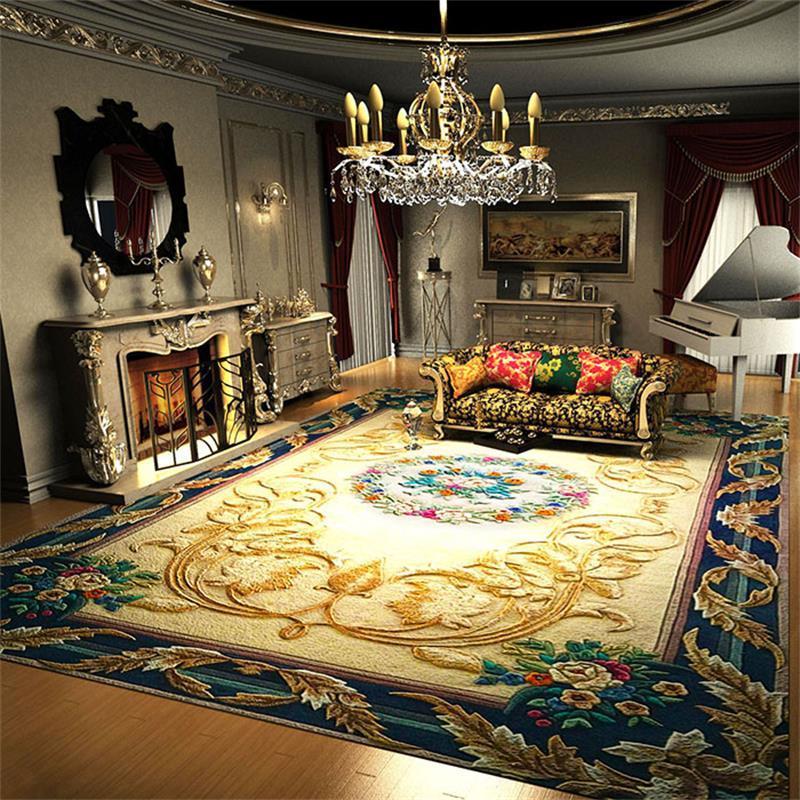 Großhandel Luxus Wolle Teppiche Für Wohnzimmer Villa Dekoration ...