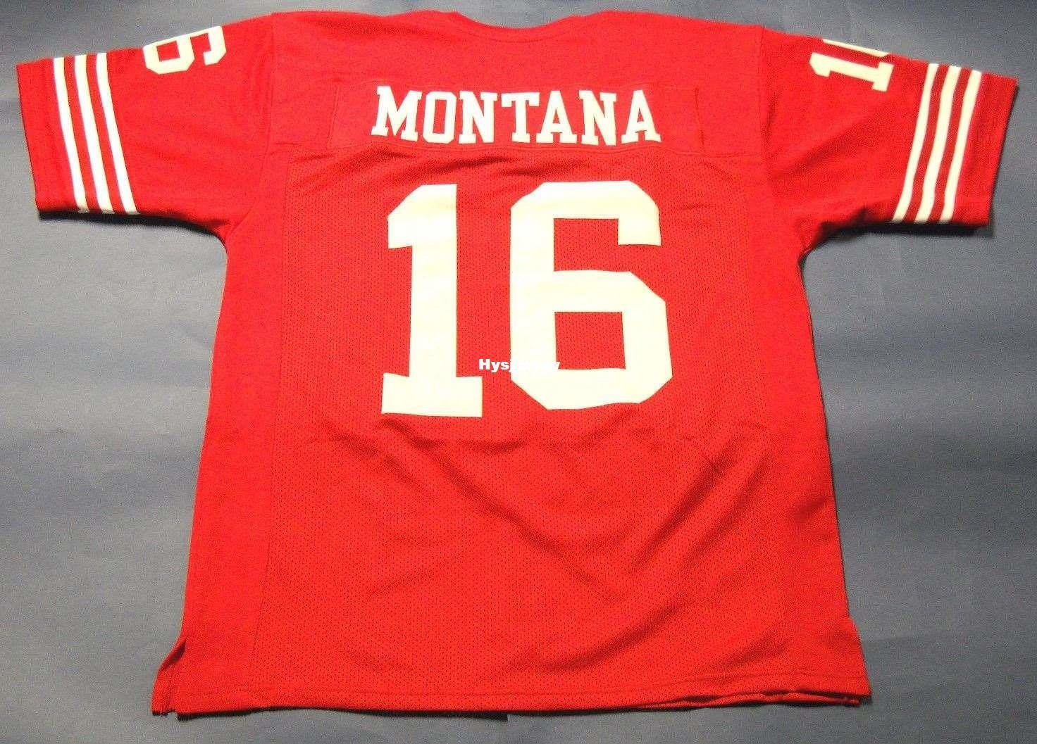 check out 3423c 4a859 Cheap retro 16 JOE MONTANA CUSTOM MITCHELL & NESS Jersey red Mens Stitching  High-end Size S-5XL Football Jerseys