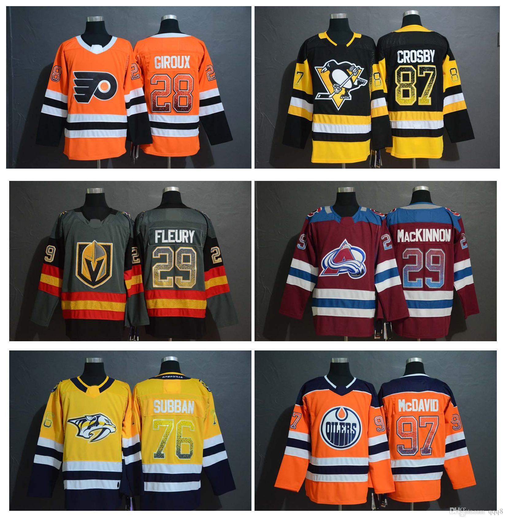 2019 NHL Sidney Crosby Jersey Claude Giroux Nathan MacKinnon 29 Marc Andre  Fleury 76 PK Subban 97 Connor McDavid Hockey Jerseys Gradient Color From  Qqq8 e44405cdb