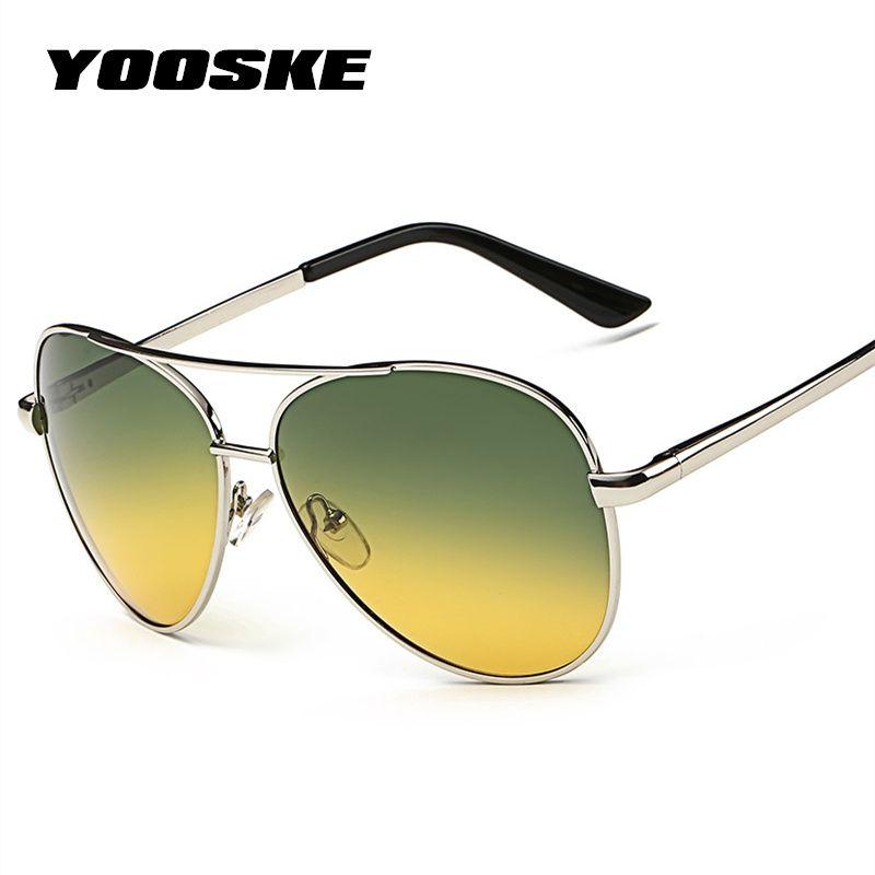 4c40d282726 YOOSKE Classic Pilot Day Night Vision HD Sunglasses Men Women ...