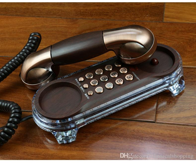 Mini Retro Hanging Wall Phone CALLER With Mute Redial Adjust Ringtone Pause Mounted Backlight Antique Telephones Fixe Telefonos De Casa