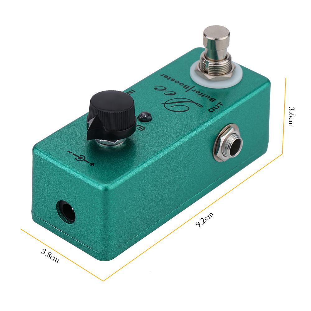 기타 페달 Dec Buffer Booster 일렉트릭 기타 이펙트 페달 미니 싱글 이펙트 클린 부스트 True Bypass 무료 배송