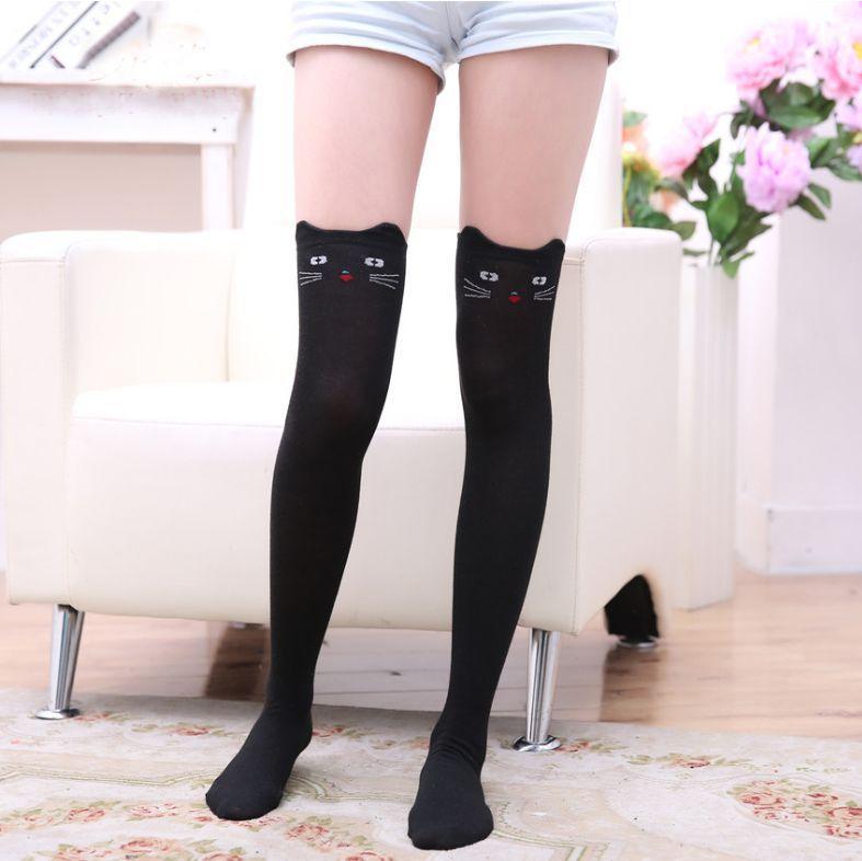 a4652a62c 2019 Fashion Women Ladies Girls Over Knee High Length Long Cotton Cute Socks  School Uniform Socks 2017 New From Honhui