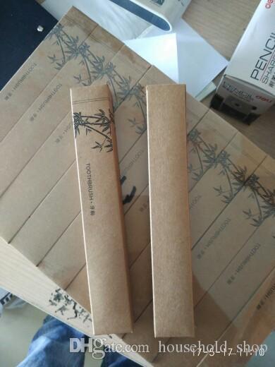 Brosse à dents en bambou Brosse à dents douce Pure Natural Bamboo Matériel Tongue Cleaner Bambou Charbon de bois Brosse à dents Voyage Kit Brosse avec boîte Free Ship