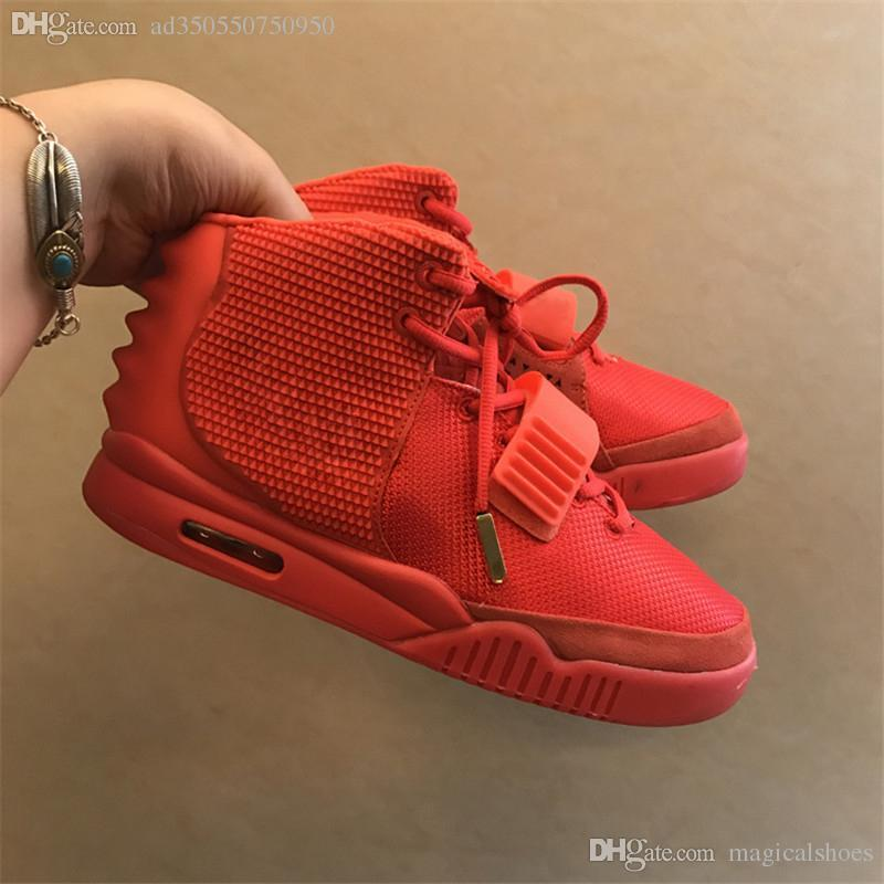 1223718ad 2018 2 SP NRG Red October Kanye West Man Basketball Shoes With Shoes ...