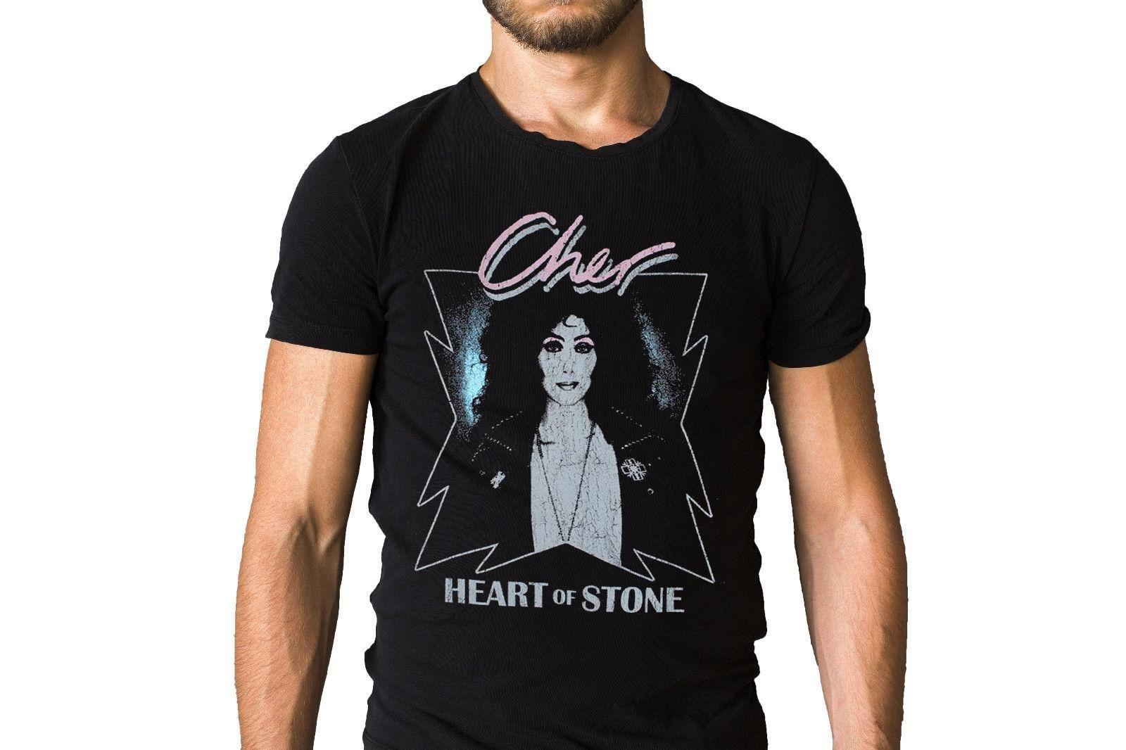 3a1ea390 Cher Heart Of Stone T Shirt High Quality Custom Printed Tops Hipster Tees T  Shirt T Shirt On Buy Cool Shirts From Shitan2, $11.78| DHgate.Com