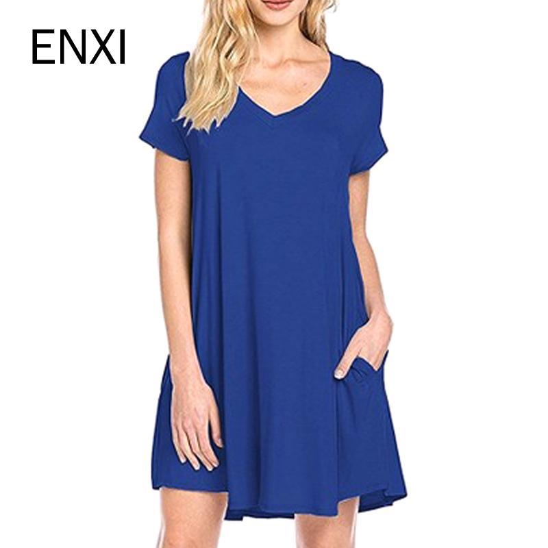 2018 Enxi Pregnant Women Clothes Casual Summer European Maternity ...