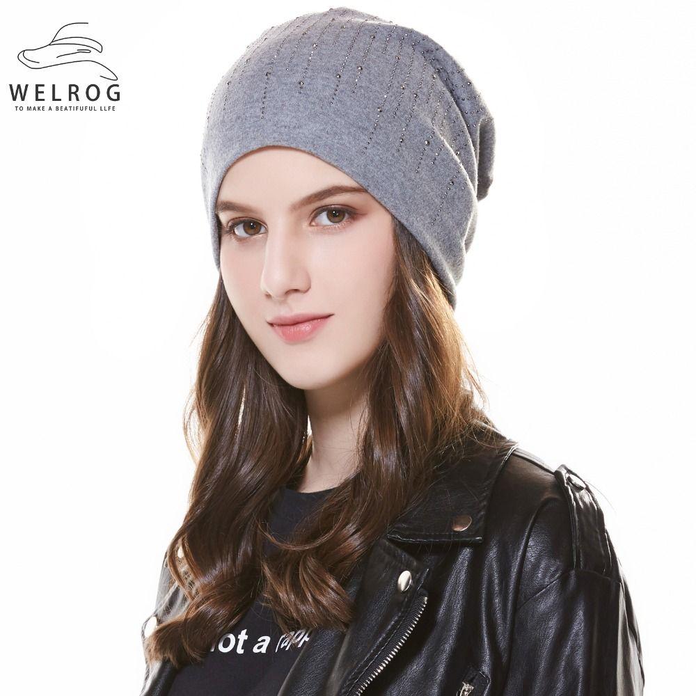 76854b6be236e Compre welrog gorros de lana de invierno sombrero de punto jpg 1000x1000  Caliente gorros para nieve