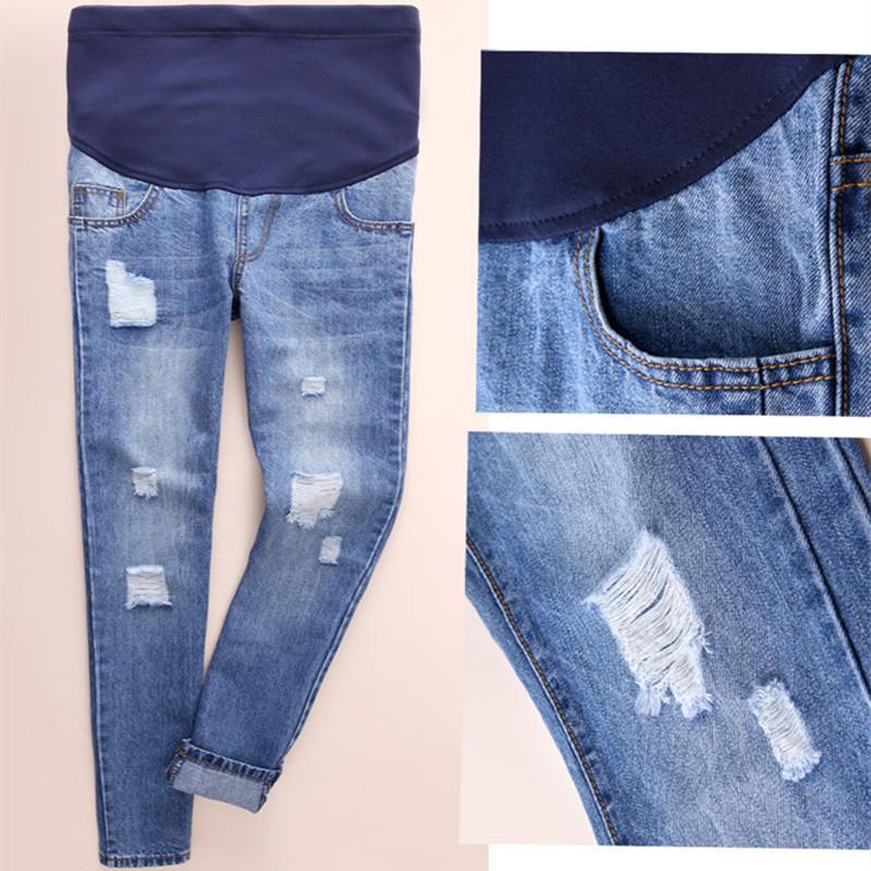 7708ce3d0 Compre Personalidad Caliente Hole Maternity Jeans Embarazo Ropa De Gran  Tamaño Mujeres De Maternidad Pantalones Sueltos Pregnant Cotton Jeans Pants  A  32.11 ...