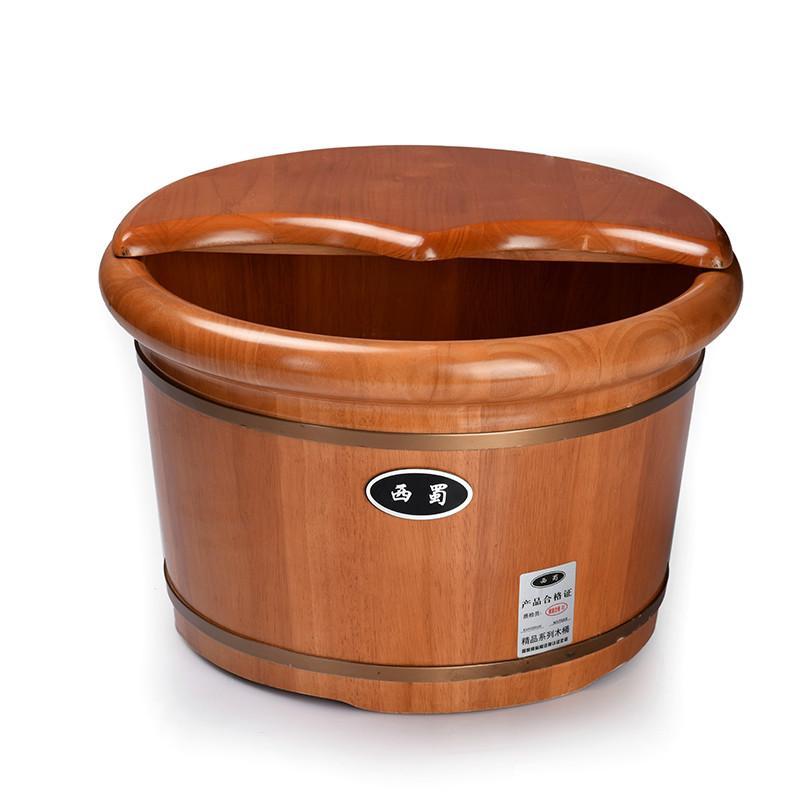 2018 Foot Bath Tub Feet Oak Foot Barrel With Wooden Feet Cover 26cm ...