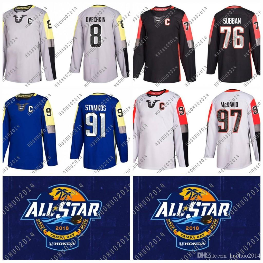 2019 Women 2018 All Star Game Hockey Jerseys Connor McDavid Steven Stamkos  Alex Ovechkin P.K. Subban Metro Atlantic Central Pacific Division From  Huohuo2014 ... 748ebac8a